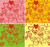 De dagachtergrond van de naadloze valentijnskaart Royalty-vrije Stock Afbeelding