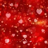 De dagachtergrond van de rode valentijnskaart Royalty-vrije Stock Afbeeldingen