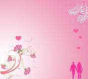 De dagachtergrond van de valentijnskaart Royalty-vrije Stock Afbeelding