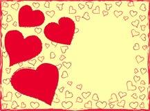 De dagachtergrond van de valentijnskaart Stock Foto's