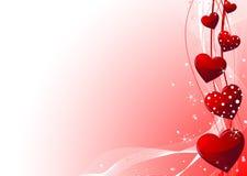De dagachtergrond van de valentijnskaart Stock Afbeeldingen
