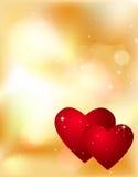 De dagachtergrond van de valentijnskaart Royalty-vrije Stock Foto's