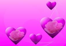 De dagachtergrond van de valentijnskaart Royalty-vrije Stock Afbeeldingen