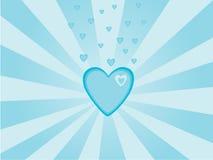 De dagachtergrond van de valentijnskaart Stock Afbeelding
