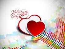 De dagachtergrond van de valentijnskaart Stock Fotografie