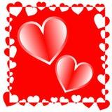 De dagachtergrond van de valentijnskaart Illustratie Stock Foto's