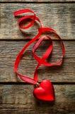 De dagachtergrond van de valentijnskaart met harten Royalty-vrije Stock Foto