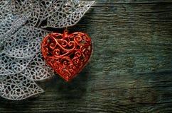 De dagachtergrond van de valentijnskaart met harten Stock Foto