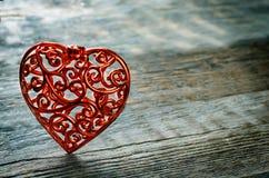 De dagachtergrond van de valentijnskaart met harten Stock Afbeeldingen