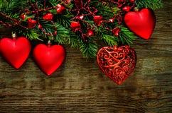 De dagachtergrond van de valentijnskaart met harten Royalty-vrije Stock Afbeeldingen