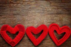 De dagachtergrond van de valentijnskaart met harten Stock Fotografie