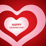 De dagachtergrond van de valentijnskaart met harten Royalty-vrije Stock Afbeelding