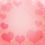 De dagachtergrond van de valentijnskaart met harten Royalty-vrije Stock Foto's