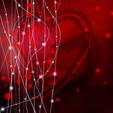 De dagachtergrond van de valentijnskaart met harten op zwarte Royalty-vrije Stock Afbeeldingen