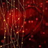 De dagachtergrond van de valentijnskaart met harten op zwarte Royalty-vrije Stock Afbeelding