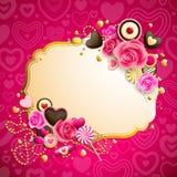 De dagachtergrond van de valentijnskaart `s Stock Fotografie
