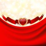 De dagachtergrond van de valentijnskaart `s Stock Foto