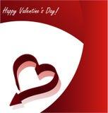 De dagachtergrond van de valentijnskaart van Absrtact Stock Foto