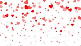 De dagachtergrond van hart halftone Valentine ` s Rode harten op wit Vector illustratie Royalty-vrije Stock Foto