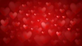 De dagachtergrond van de valentijnskaart `s met harten Stock Fotografie
