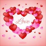De dagachtergrond van de valentijnskaart `s met harten Royalty-vrije Stock Foto's