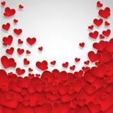 De dagachtergrond van de valentijnskaart `s met harten Royalty-vrije Stock Foto