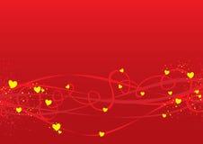 De dagachtergrond van valentijnskaarten Stock Foto's