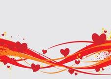 De dagachtergrond van valentijnskaarten Royalty-vrije Stock Afbeeldingen