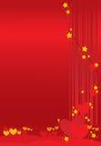 De dagachtergrond van valentijnskaarten Stock Foto