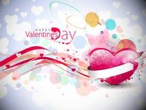 De dagachtergrond van valentijnskaarten Stock Afbeeldingen