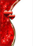 De dagachtergrond van valentijnskaarten stock illustratie