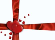 De dagachtergrond van valentijnskaarten Stock Fotografie