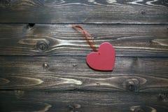 De dagachtergrond van valentijnskaarten met hart Stock Foto's