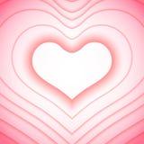 De dagachtergrond van valentijnskaarten met harten Stock Afbeeldingen