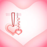 De dagachtergrond van valentijnskaarten met harten Royalty-vrije Stock Foto