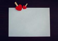De dagachtergrond van valentijnskaarten met harten Royalty-vrije Stock Fotografie