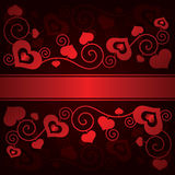 De dagachtergrond van Valentine met harten Royalty-vrije Stock Afbeelding