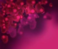 De dagachtergrond van Valentine met harten abstracte achtergrond vector illustratie