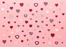 De dagachtergrond van Valentine ` s royalty-vrije stock fotografie