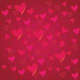 De dagachtergrond van Valentine ` s met hart Stock Afbeeldingen