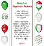 De Dagaffiche van de Republiek van Italië Nationale Vector Stock Afbeeldingen