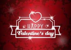 De Dagaffiche van Valentine met hart Stock Foto's
