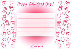 De dagaffiche van Valentine ` s Stock Fotografie