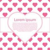 De dagaffiche van Valentine ` s typografie Stock Foto