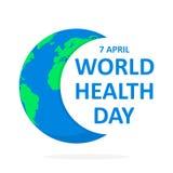 De Dagaffiche van de wereldgezondheid Vector illustratie Royalty-vrije Stock Afbeeldingen