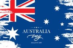 De Dagbanner van Australië met de achtergrond van de borstelslag in de kleuren van de Australische nationale vlag Royalty-vrije Stock Afbeeldingen