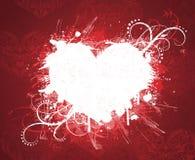 De dagbanner van de valentijnskaart van Grunge. Stock Afbeeldingen