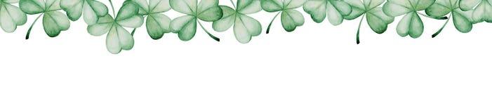 De Dagbanner van waterverfheilige Patrick ` s Het ornament van de klaver Voor ontwerp, druk of achtergrond Royalty-vrije Stock Fotografie