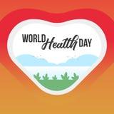 De Dagbanner van de wereldgezondheid Occasioneel Bannermalplaatje vector illustratie
