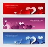De dagbanners van de moderne valentijnskaart Stock Afbeelding